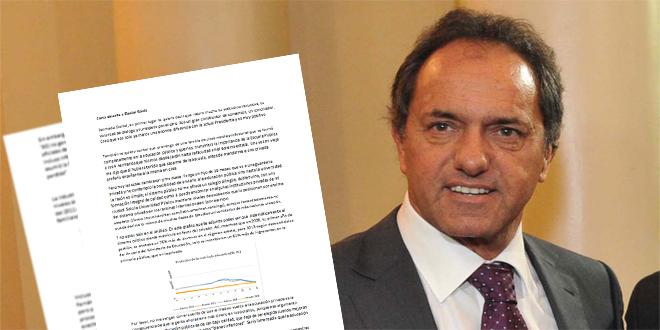 Carta abierta a Daniel Scioli